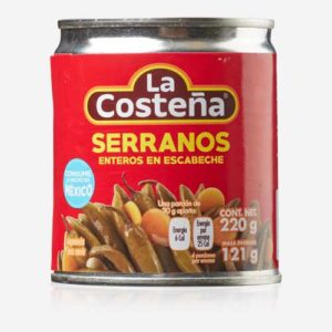 Serrano chili - hele syltede - 220 gr.