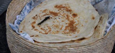 Billede af hjemmelavede tortillas i kurv